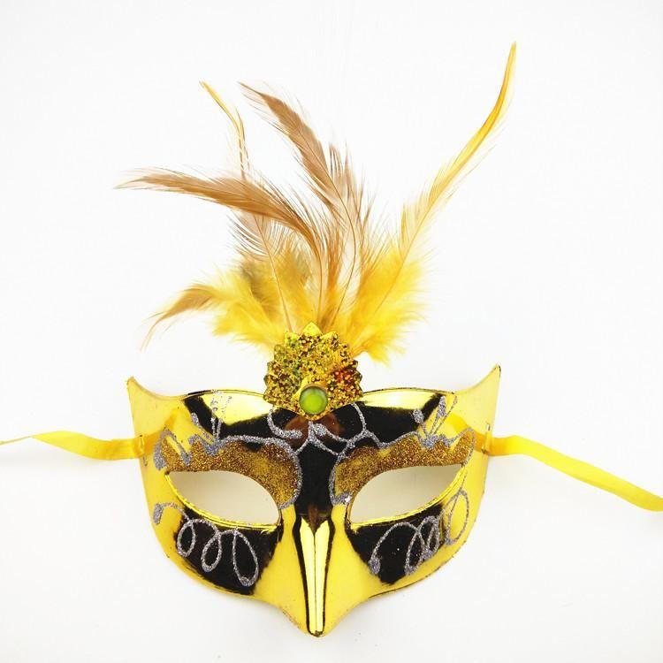 Flaş tüy ışık yayan fiber maske masquerade parti sanatçı kadın prenses saç maskeleri toptan