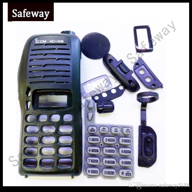 Nuova copertura custodia custodia Walkie talkie per IC-V8 con manopole tastiera ppt copertura antipolvere per ICOM radio bidirezionale accessori spedizione gratuita