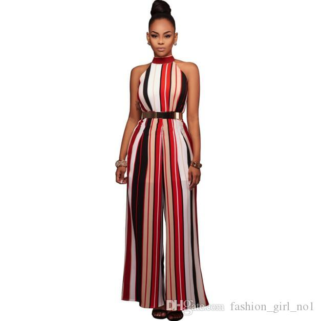 2021 2018 Womens Striped Straps Jumpsuits Sexy Women Shouder Bodysuit  Outfits Long Pants 2017 Hot Womens Rompers Wide Leg Trousers From  Fashion_girl_no1, $14.46 | DHgate.Com
