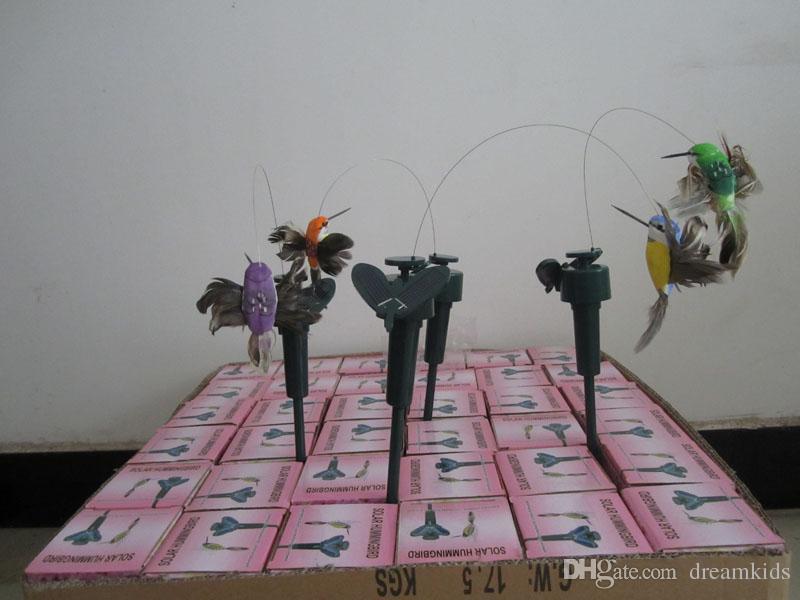 144pcs fliegende flatternde Kolibris, fliegender Vogel des Vogels mit Federflügel, Gartenvögel spielen DHL FEDEX VERSCHIFFEN
