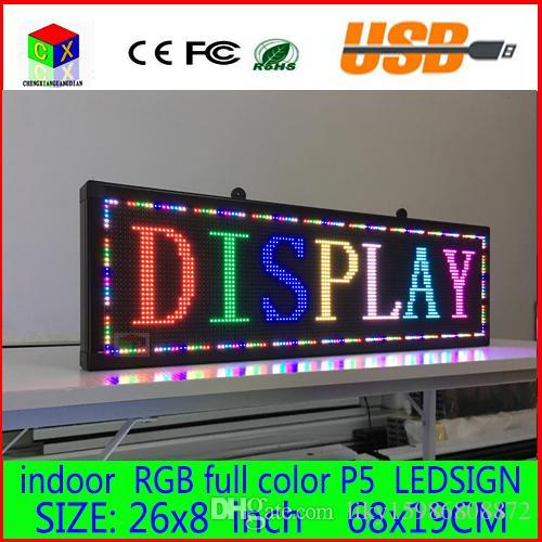 680X190MM 프로그래머블 LED 스크롤 메시지 표시 LED 사인 패널 실내 풀 컬러 보드