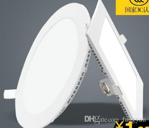 10pcs luce della lampada ultra luminosa 3W 6W 9W 12W 15W 20W ha condotto il soffitto messo Downlight rotondo / quadrato della luce di pannello 1800Lm pannello Led Bulb