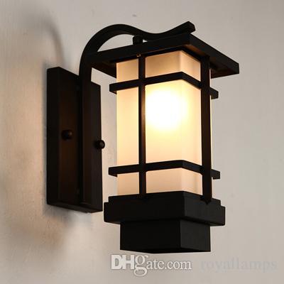 mur de l'éclairage extérieur Vintage led lampe de mur porche extérieur lumière étanche lumière Glass Porch Lights applique murale éclairage e27