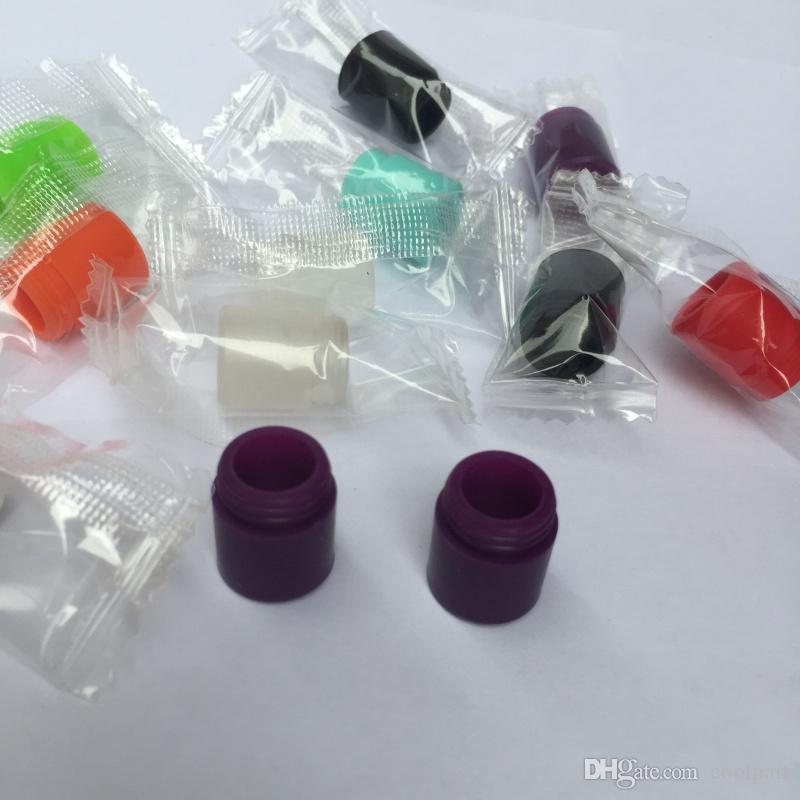 TFV12 Tek Kullanımlık damla İpuçları Bireysel Sarılmış Silikon Kauçuk Tester Damla İpuçları Büyük Ağız Tankı Goon için TFV8 Büyük Bebek Testi Damla İpuçları