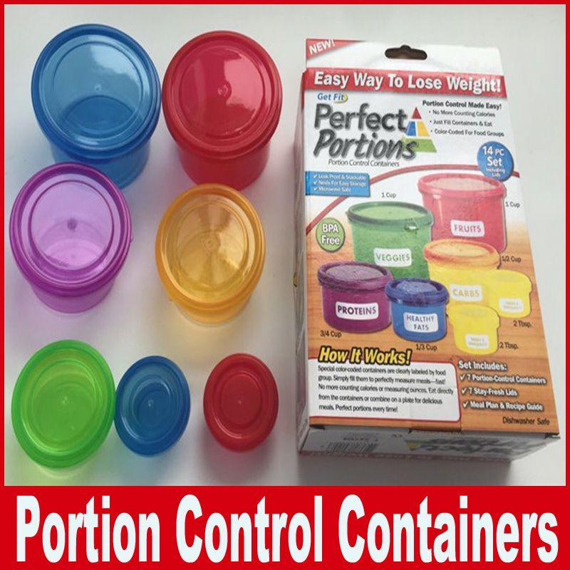 Porzioni perfette Contenitori per la conservazione degli alimenti Modo semplice per perdere peso MINI Portion Lunch Boxes Contenitori di controllo Conservazione degli alimenti