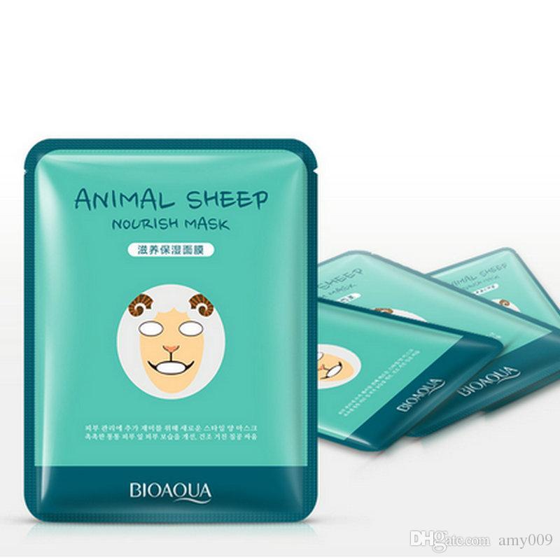التجزئة 5 قطع bioaqua أقنعة الوجه ليونة الحيوان الوجه قناع النمر الباندا الأغنام الكلب شكل ترطيب النفط السيطرة مرطب مغذي
