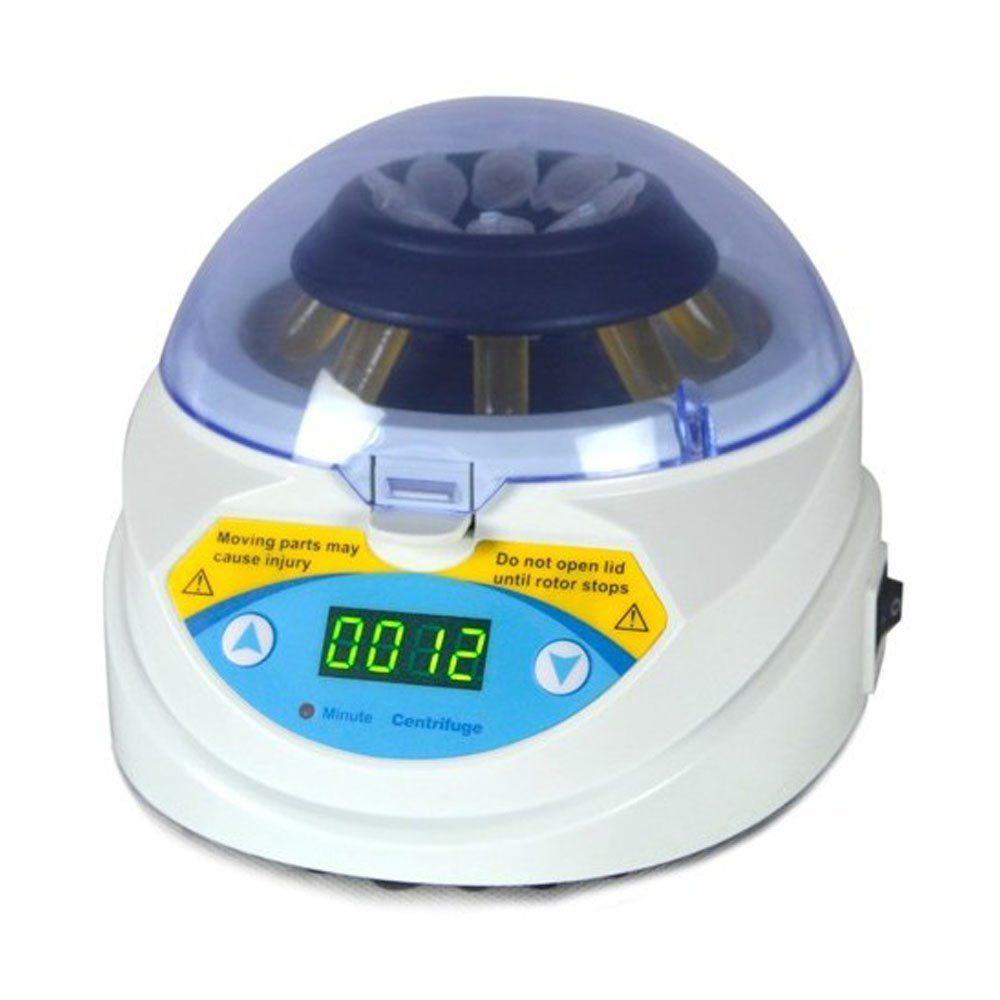 MINI-10K + Mini Masaüstü Laboratuvar Santrifüj 3000 ~ 10000 RPM Zamanlayıcı ile Ayarlanabilir Yüksek Hızlı Elektrikli Santrifüj LED Ekran