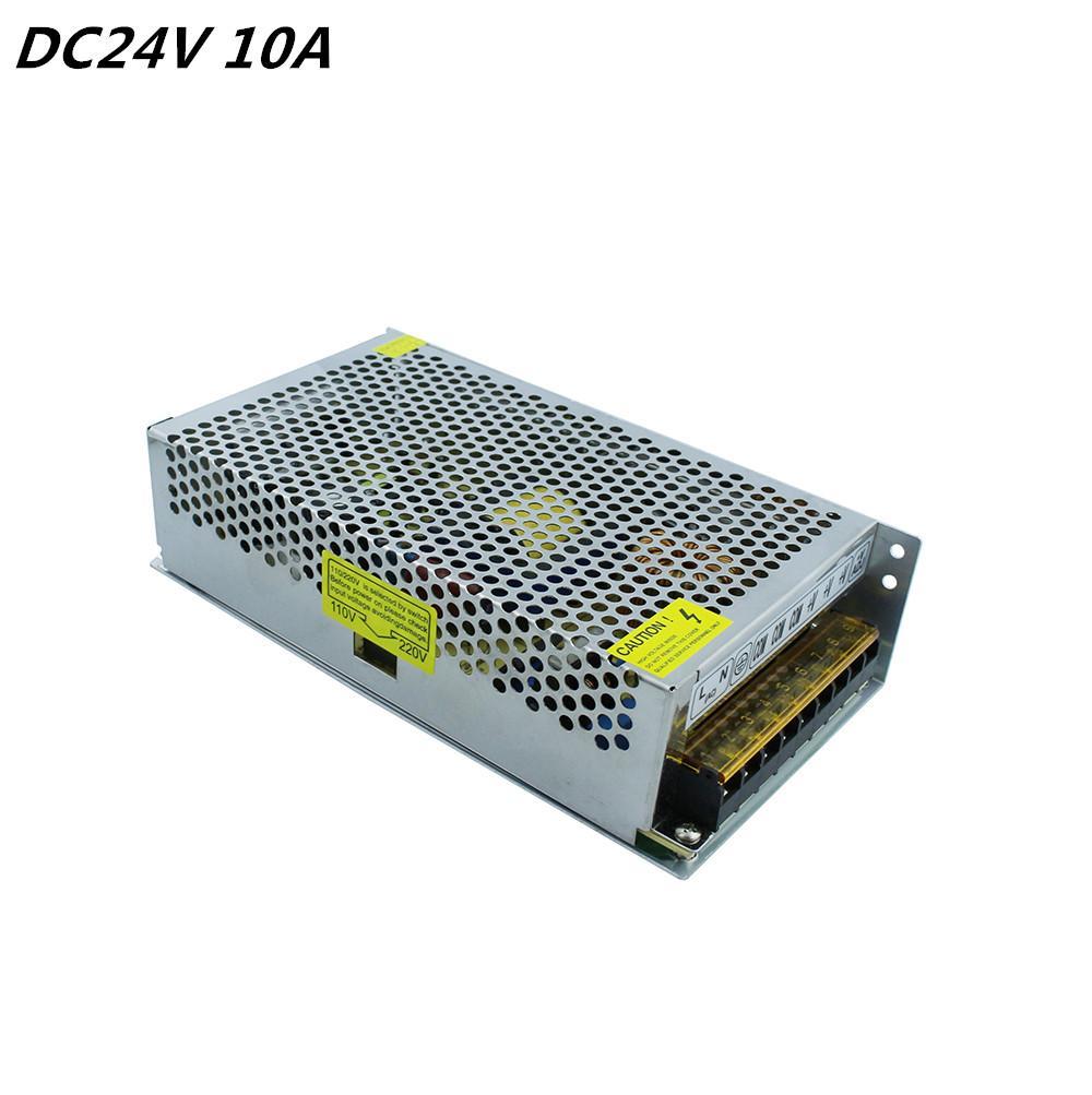 Universal 24V 10A 240W Aluminium Alimentation Alimentation LED Transformateur Commutateur de transformateur pour l'affichage de la lumière de bande LED 110V 220V