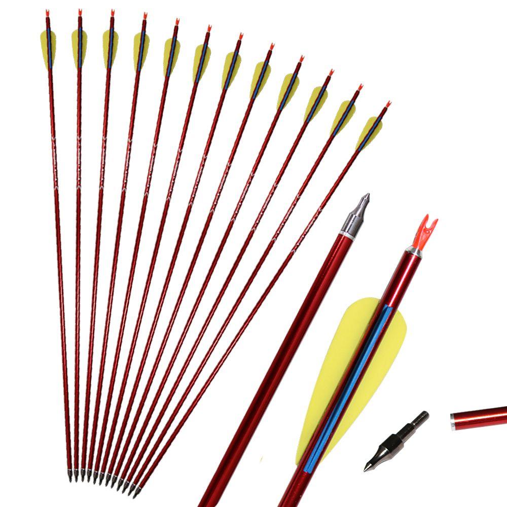 Setas de Alumínio Arco e Flecha Arco de Arco e Flecha Composto de Arco e Flecha de Arco de Arco e Flecha de alumínio para Prática ou Caça ao Ar Livre