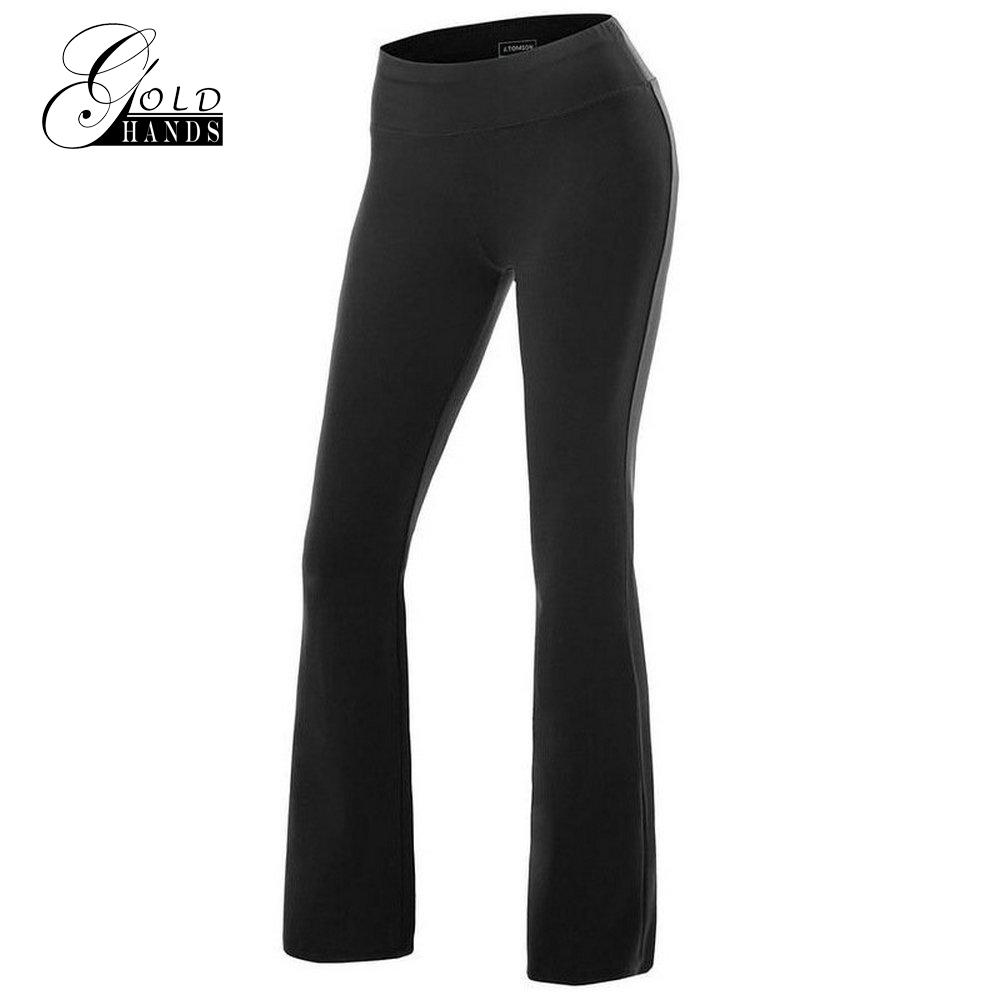 Women Pants Casual Elastic Waist Flare Wide Leg Pants Palazzo Trousers Yoga Fitness Leggings Capris Loose Sweatpants Dance Long Pants