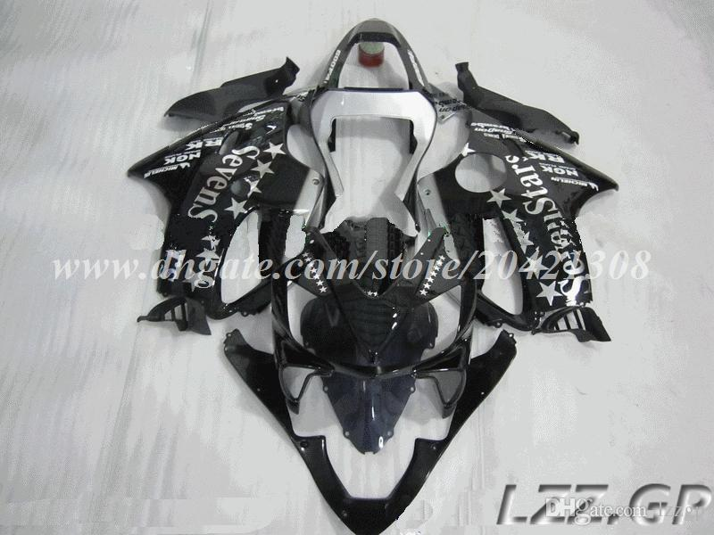 100% new fairings for Honda CBR600F4i 01 02 03 CBR600F4i 2001 2002 2003 CBR600 F4i 01 02 03 fairing kits #j27v4 Black 7star