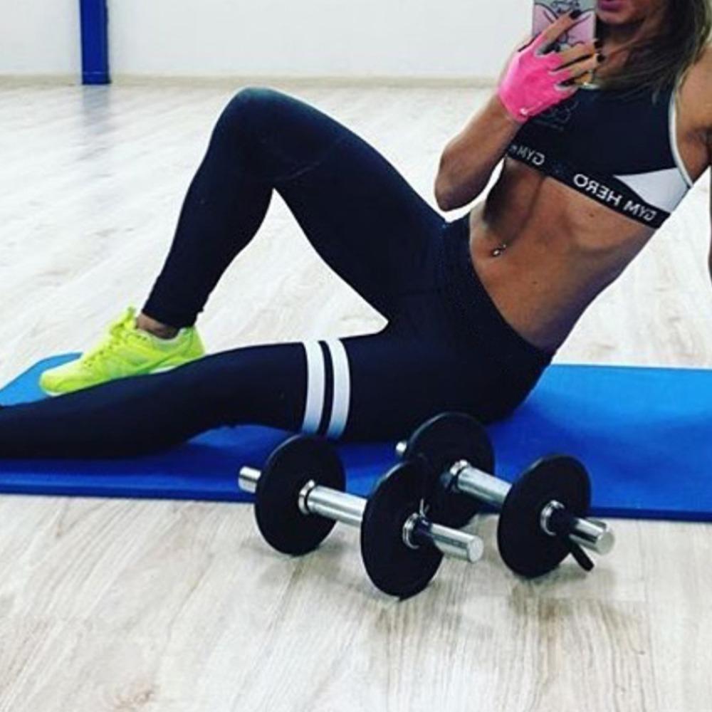 FUNOC 2016 Workout Stretch Leggings Polainas de las mujeres Spandex Slim elástico cómodo de cintura alta Stretch Pantalones Sporting Legging