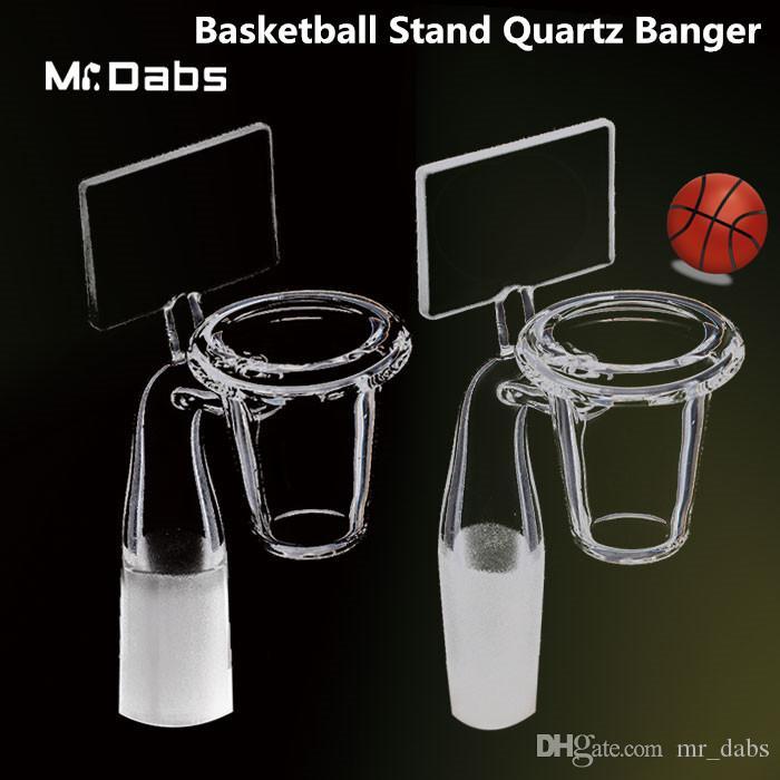 Rückwand Quarz Banger Nagel mit 19/14 / 10mm männlich / weiblich gemeinsame Basketball Haken Quarz Banger Quarz Nagel