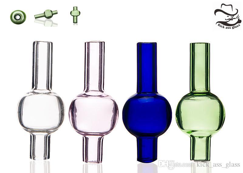 capuchon de carb de bulles de verre coloré ronde dôme sphérique pour conduites d'eau en verre, quartz épais XL pétard thermique clous Dab Rig 558