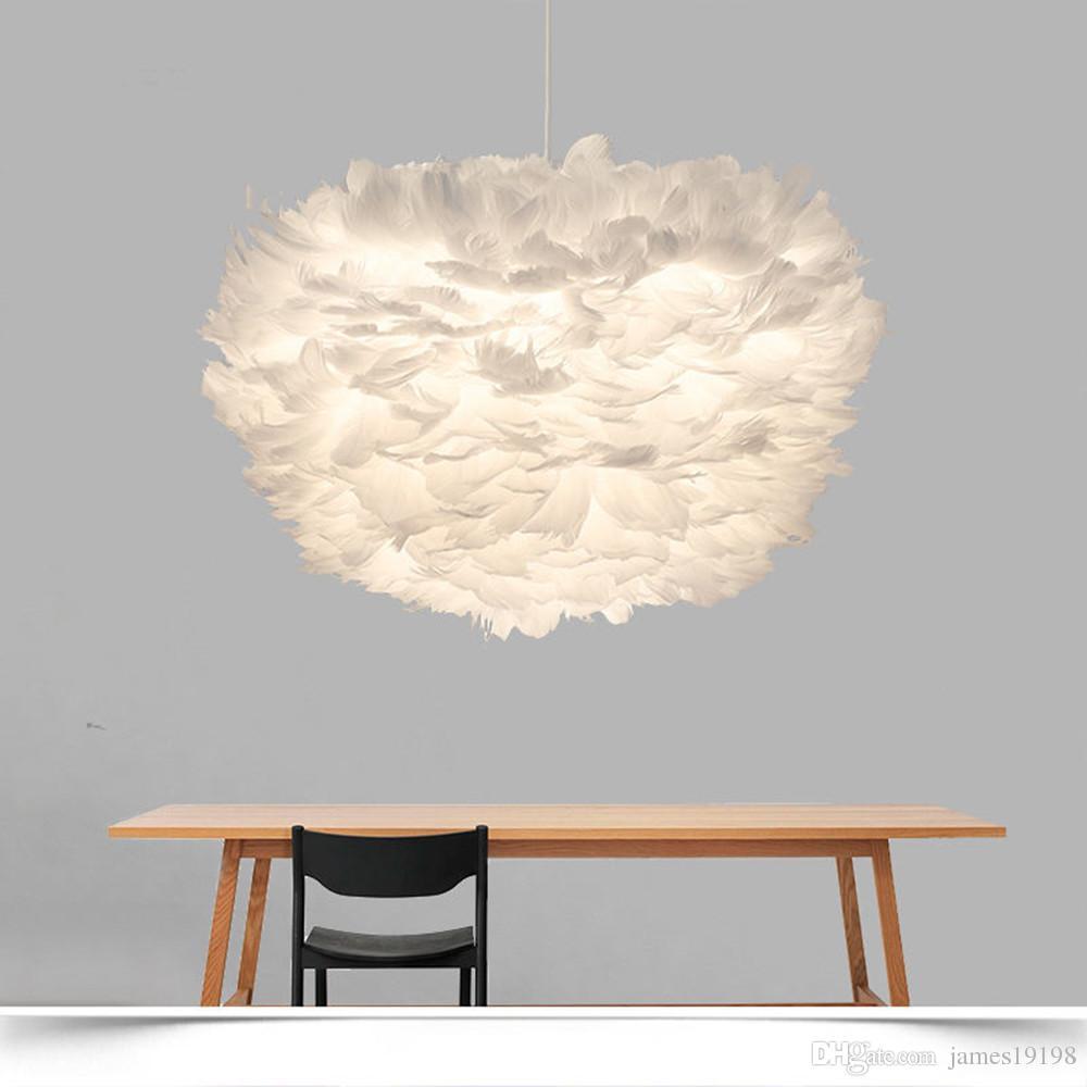 Nordic Lanterna Nest Feather soffitto lampadario lampada a sospensione droplight Cafe Conservare hotel Home Living Room Decor Fixture PA0255