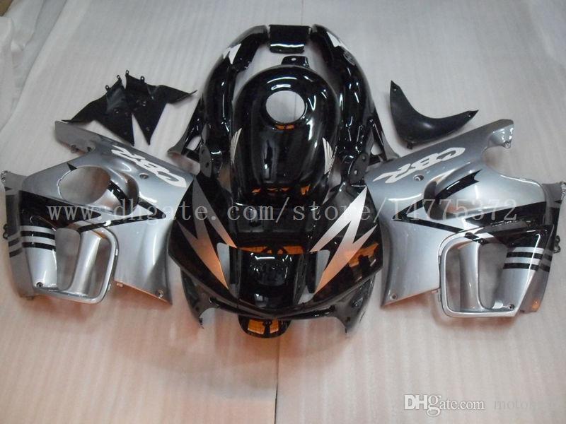 CBR600 F3 1995 1996 Fairing kit+gifts for honda CBR600F3 95-96 CBR 600 F3 95 96 fairings #y29w7 Silver black