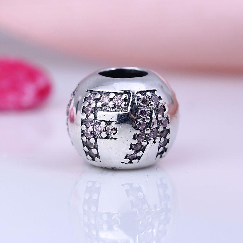 100% Réel 925 En Argent Sterling Non Plaqué Foi CZ Charmes Européens Charmes Perles Fit Pandora Bracelet Bijoux DIY