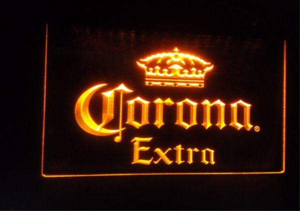 B42 كورونا علامات البيرة بار حانة نادي 3d led ضوء النيون تسجيل ديكور المنزل الحرف