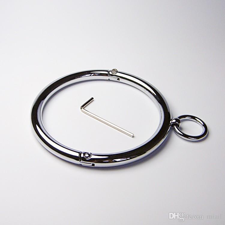 Collar superior Aleación Lockable Metal SexuelsToys Collar de cuello + Llave de calidad RESTENCIA PARA HEX GARKER SLAVE O-RINGS SM GAMEJOTETES BLOQUEO PKLF