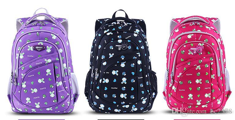 Lovely Cartoon Rabbit Backpack Kids School Bag Double Zip Puller Design Exquisite Quality 4 Color Choice