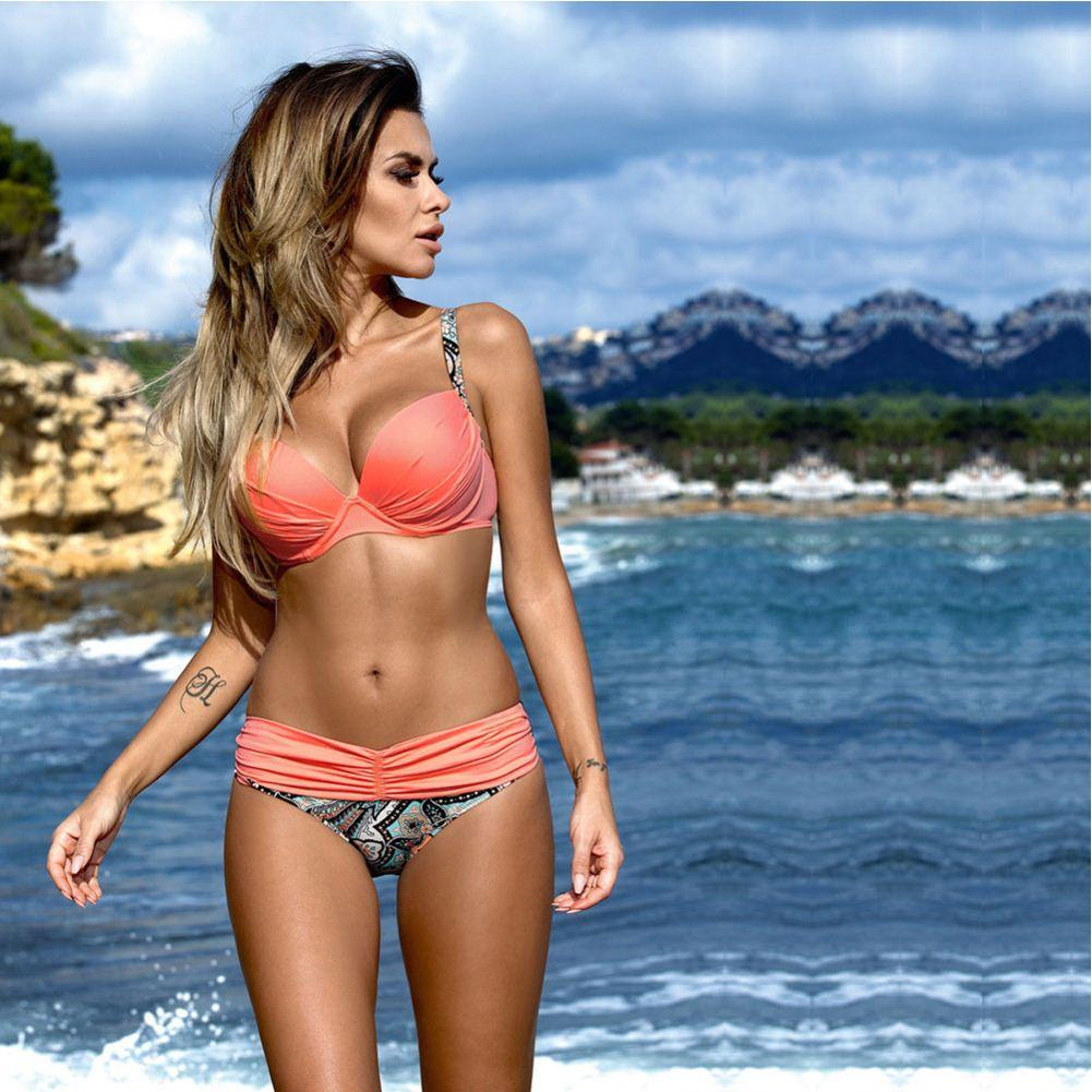 6308e93d0013 getSubject() Pj Novo 2017 Mulheres Praia Biquini Sexy Swimsuit Push Up  Bikinis Set Swimwear Biquíni Brasileiro Sexy ...