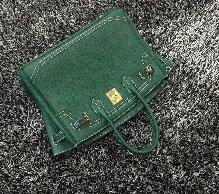 2016 Luxury H Handbag Women\`s Litchi Cowhide Messenger Bag Genuine Leather Famous Designer Shoulder Crossbody Totes Ladies Bolsa (21)
