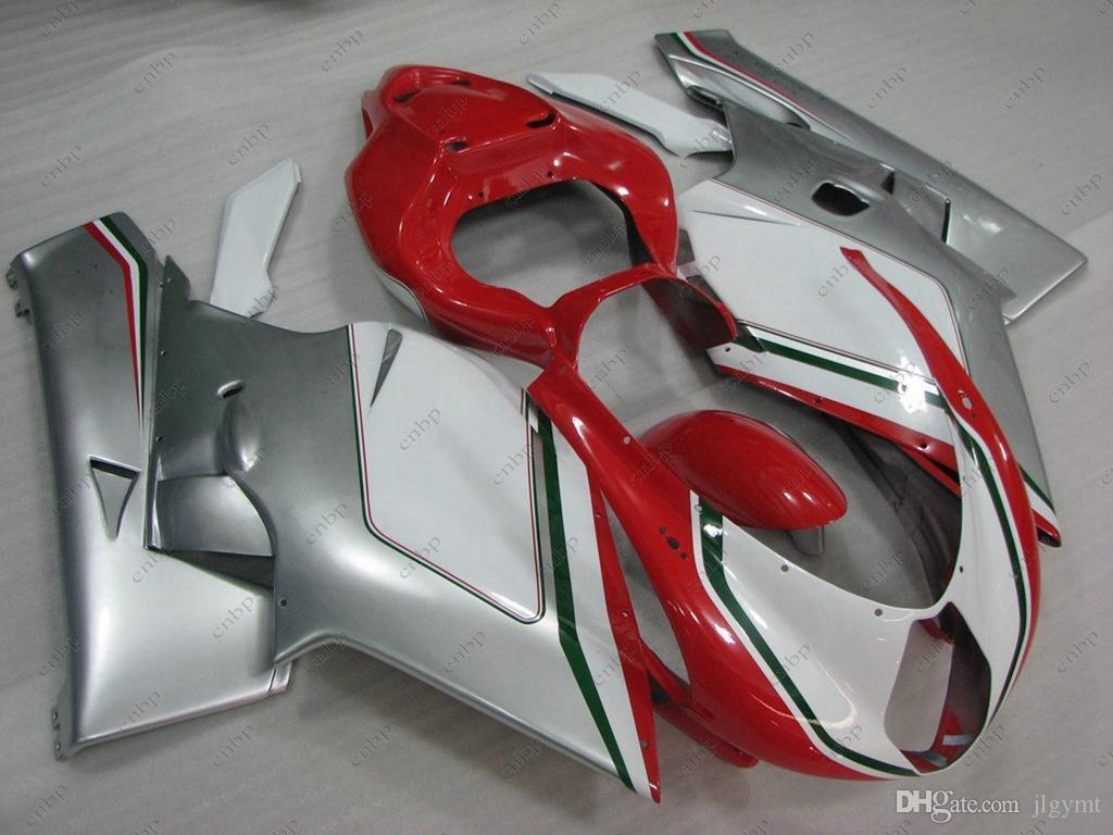 MV AGUSTA F4 1 + 1 1000 cc 06 바디 키트 2005 실버 화이트 레드 페어링 키트 F4 1000 CC 2006 2005 - 2006을위한 풀 바디 키트