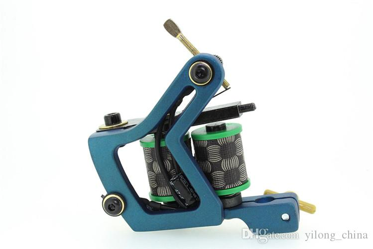 Neue Design-Legierung Tattoo Maschine Tattoo Guns Versorgung für Liner Shader Low Heat Tattoo Guns 10 Spulen