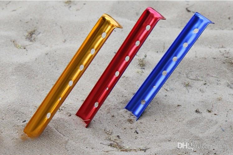 ... U-Shaped Aluminum Alloy Snow Nails and Sand Tent Stakes Strong Sandy beach Tent Pegs & U-Shaped Aluminum Alloy Snow Nails and Sand Tent Stakes Strong ...