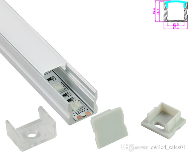 10 X 1M sets/lot Anodized silver square extruded led aluminum channel for SMD5630 flooring or wall lighting