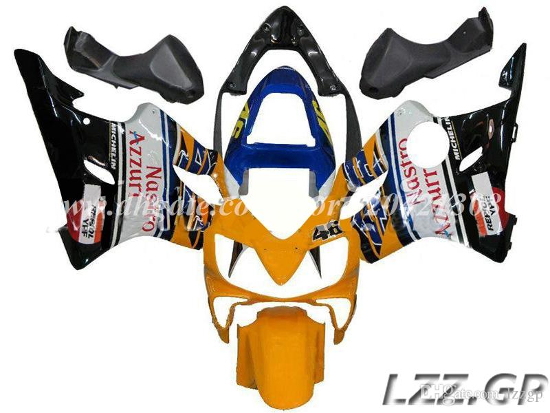 yellow black blue for Honda CBR600F4i 2001 2002 2003 CBR600F4i 01 02 03 CBR600 F4i 2001-2003 2002 fairing kits #q92m4 injection fairings