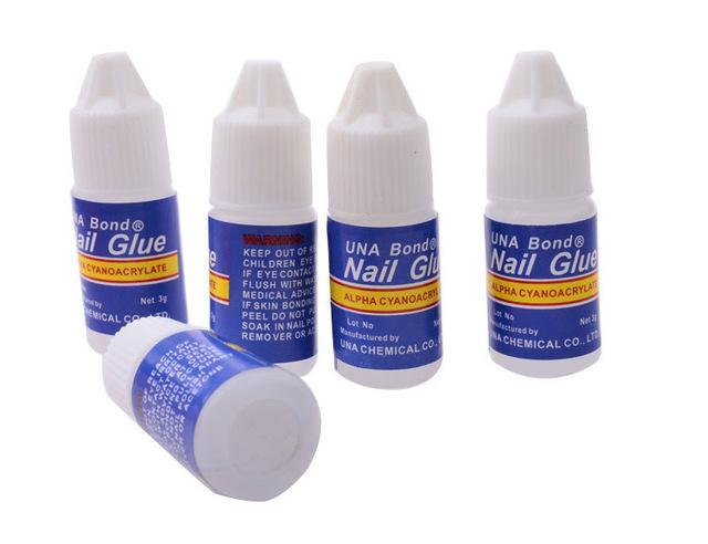도매-높은 품질 프로 3 그램 매니큐어 아트 팁 스틱 도구 네일 접착제 UV 젤 네일 아트 아크릴 거짓 네일 팁 3 개 / 몫