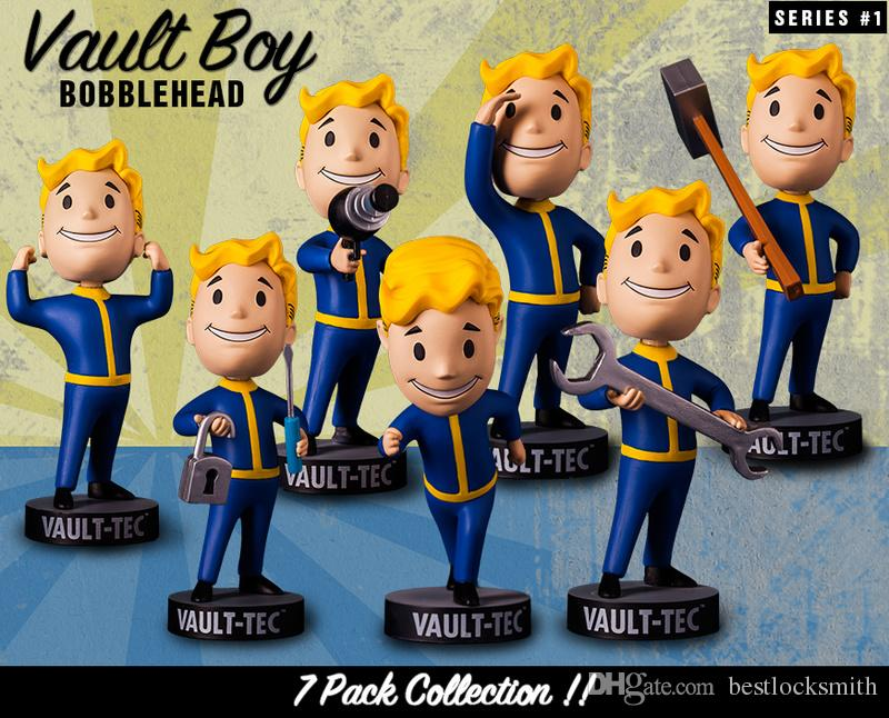 Fallout 4: Vault-TEC PIP Boy Block Pick Actino Figure Vault Boy 5 pollici Bobblehead figura Toy Miglior regalo Nemico Geek