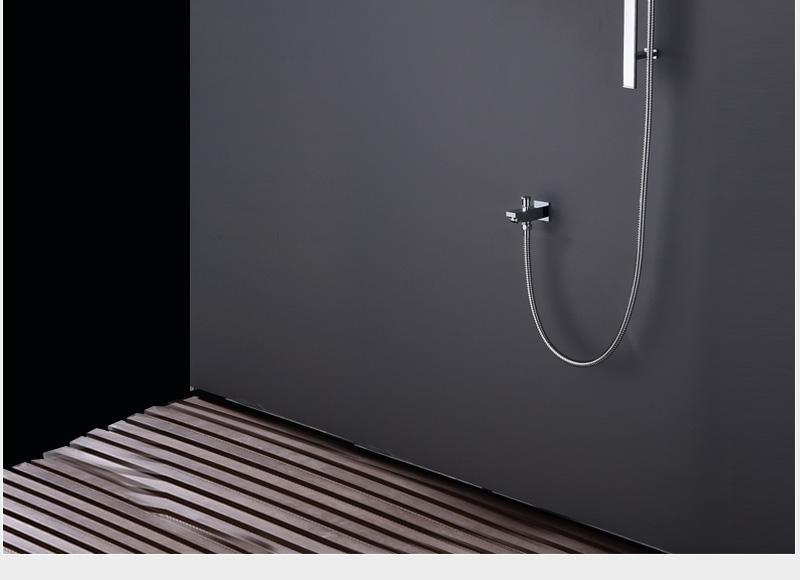 hm Bathroom Shower Head with 4 Ways SUS304 20inch Rain & Mist & Brass Slide Bar & Brass Spout & Brass Handheld Shower Set (11)