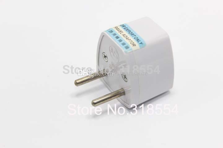 500pcs/lot # Universal AU US UK to EU Europe Euro AC Power Plug Travel Wall Adapter Outlet Converter Jack Socket