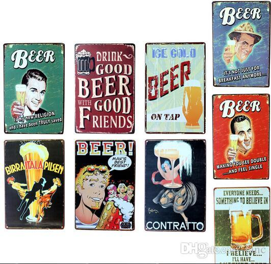Wall Poster 2030CM Metal Stickers Tin Sign Pub Club Gallery Tips Vintage Plaque