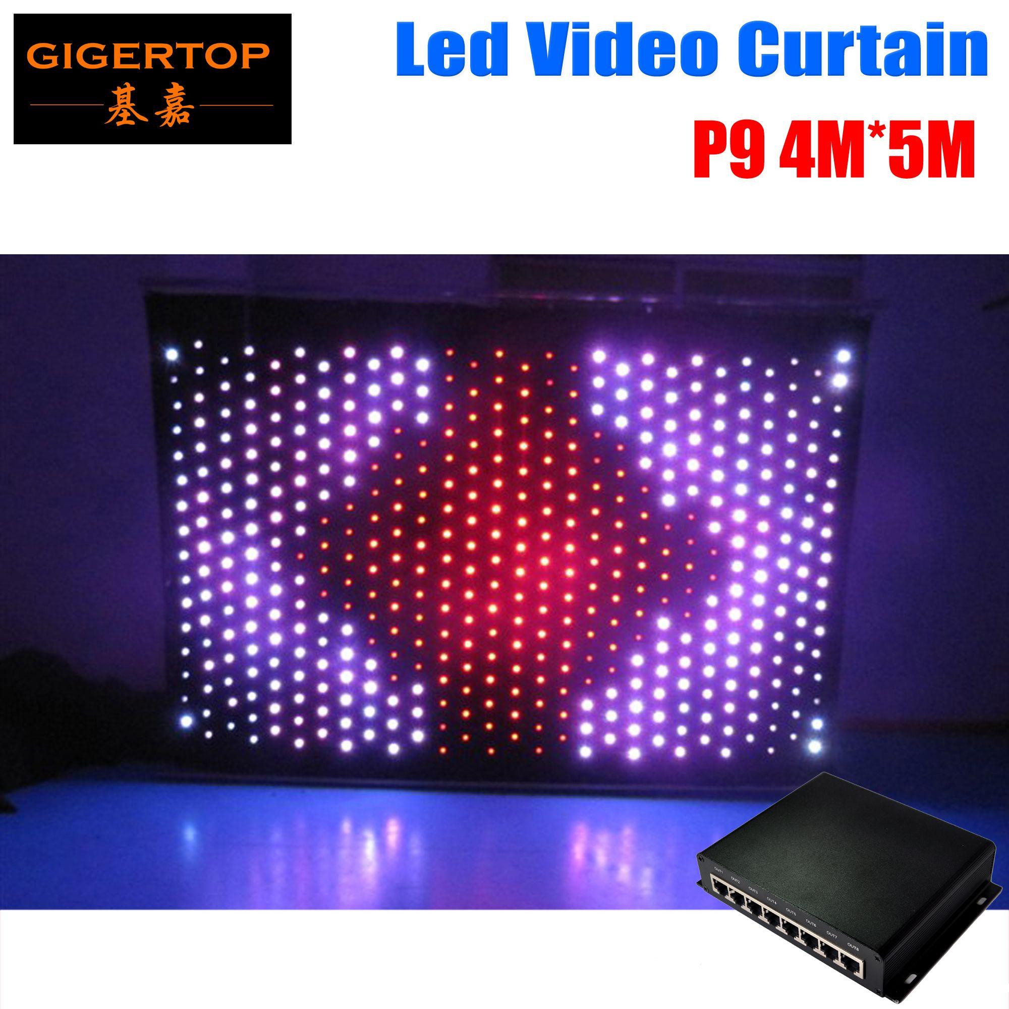 P9 4M * 5M PC Mode 2420pcs LED Rideau Vidéo Livraison Gratuite DJ Stage de Fond avec en ligne PC dmx contrôleur de Rideau De Mariage Backdrops