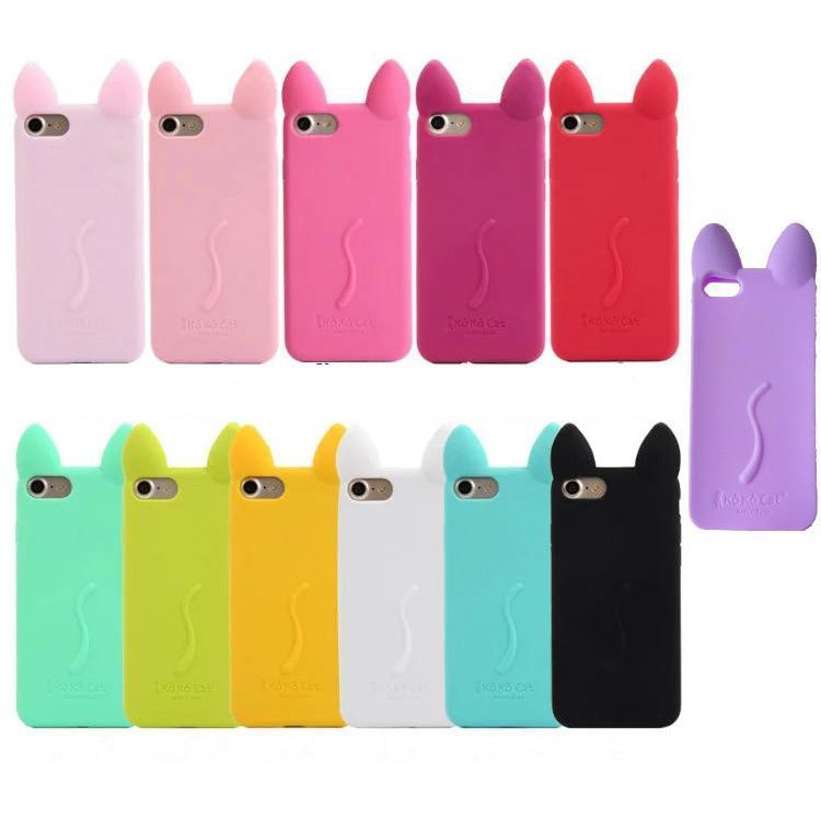 Южная Корея мило для ipone8 Cat уха силиконовый чехол для мобильного телефона для телефона X силиконовые cat уха силиконовые полный мешок анти-падение