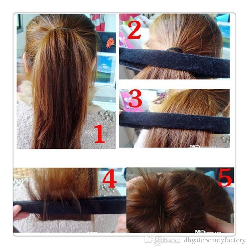 4 Women`s Hairagami Bun Tail Hair Ponytail European Hairstyle Bun Lady Girls