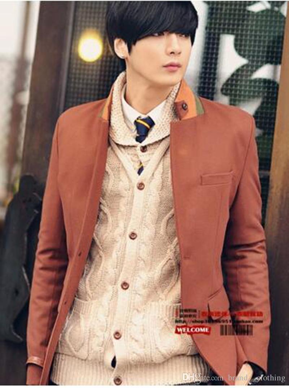 Männer elegante Mode und Persönlichkeit in der koreanischen Version neuen einreihigen Anzug Mantel der Moral. 708.S-3xl