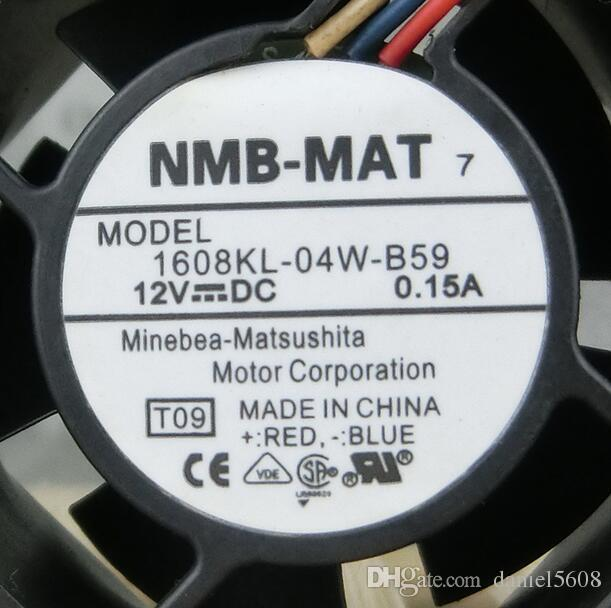 Original For NMB 1608KL-04W-B59 4020 4CM 12V 0.15A fan three-wire switch cooler