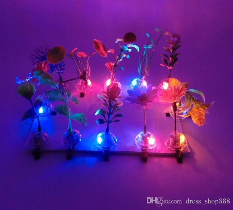 Sell Meng artifact simulation luminous plants sprout grass flowers hairpin headdress wholesale selling mushrooms Resorts