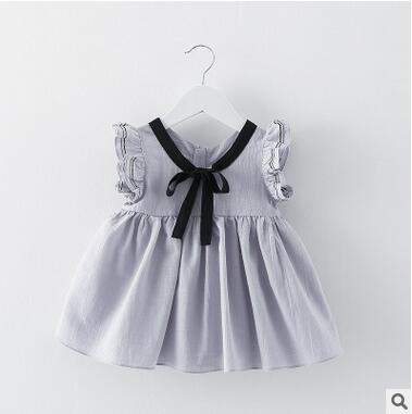 Il vestito giapponese della neonata di vendita calda del bambino lega il vestito mini del manicotto della farfalla del vestito dai bambini del pannello esterno del mini vestito dai bambini