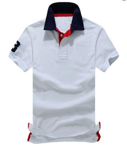 패션 망 캐주얼 T 셔츠 ralph 100 % 코튼 폴로 티 셔츠 짧은 소매 여름 레저 스포츠 셔츠 봄 가을 솔리드 t- 셔츠 # 9924