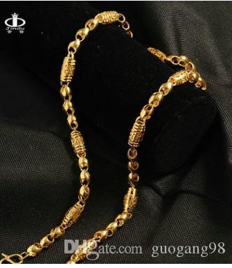 ouro nobre de alta qualidade encheu o colar de homens de lanterna de cadeia 1688 dbf