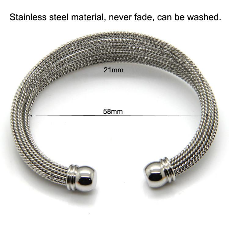 Online Cheap Never Fade Stainless Steel A Of Twisted Wire Bracelet ...
