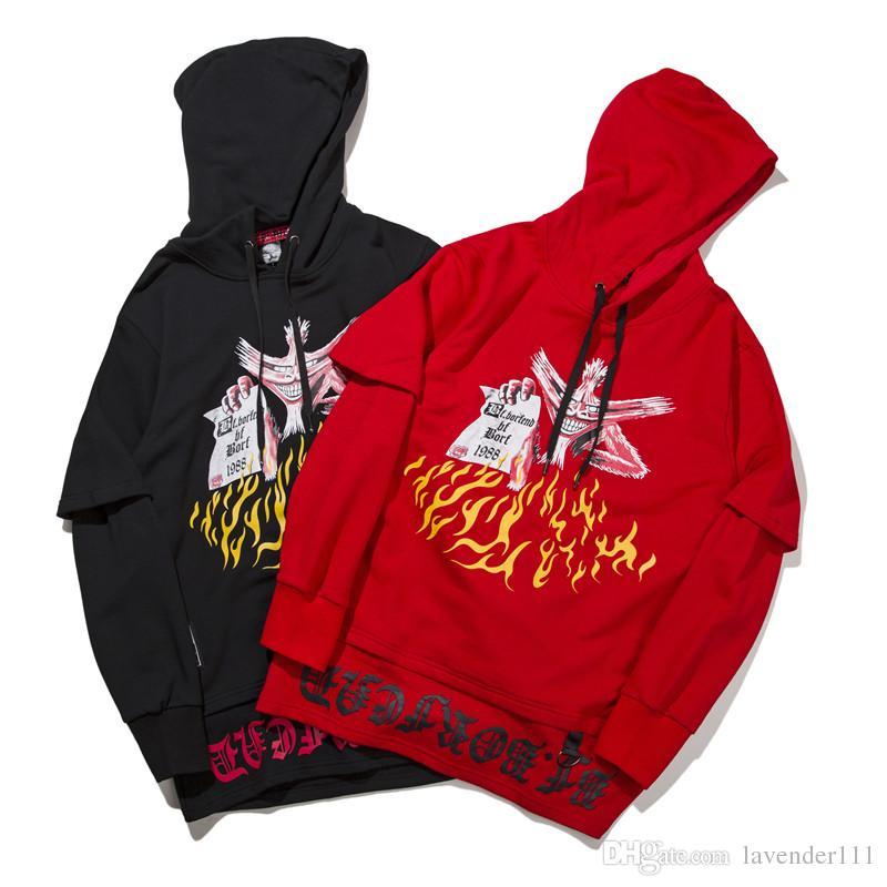 Moda Kapşonlu Erkek Kapşonlu Kpop Kazak Hip Hop Hoodies Erkekler Gevşek Streetwear Pamuk Kazak Poleron Sonbahar Tops