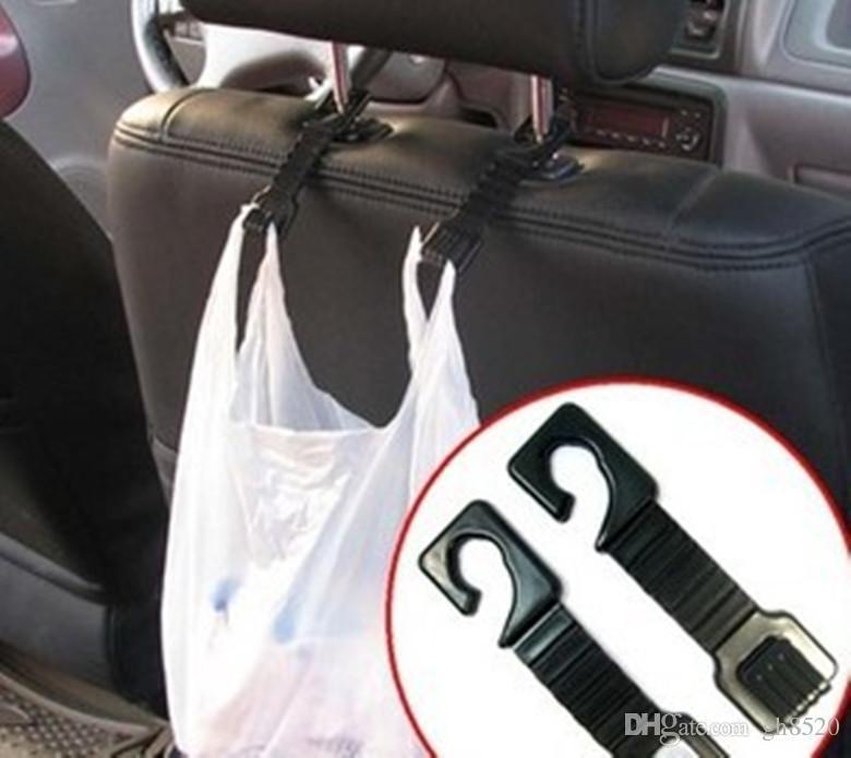 Черный автомобиль багажник сумка автомобиль крюк вешалка авто крепление клип автокресло Pothook для сумка кошелек ткань продуктовый хранения авто Застежка клип