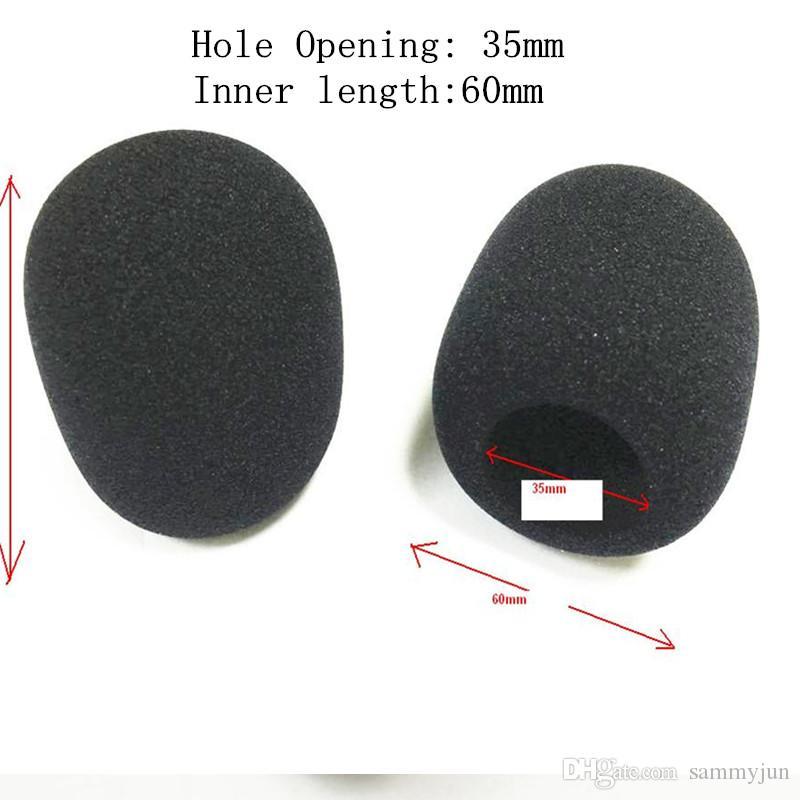 Lot de 10 pack de microphones de scène en microfibre mousse pour karaoké taille intérieure 35 * 60mm livraison gratuite par courrier