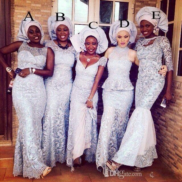 남아 프리카 공화국 인어 레이스 들러리 드레스 사우디 아라비아 5 스타일 저녁 가운 긴 플러스 크기 사용자 정의 만든 파티 드레스